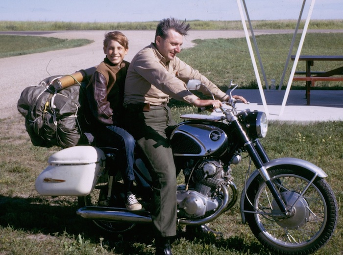 Robert Pirsig and his son